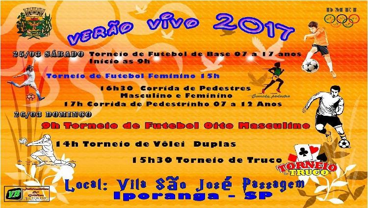 Departamento de Esporte de Iporaga realiza evento Verão Vivo 2017 com diversas atrações Esportivas